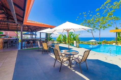 Popular 20-room Boutique hotel /retreat. Stunning ocean views overlooking the Whale's Tail in Uvita